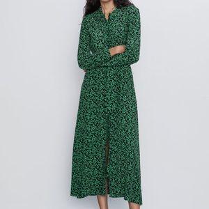 GORGEOUS ZARA NWT Printed Floral Shirt Dress